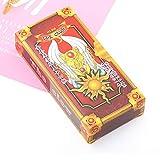 Raleighsee 52Pcs / Set Cards Anime Cardcaptor Sakura Clow Cards Full Set Classic Gift Magic Book Set( S Red)