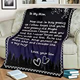 to My Mom Blanket Gift for Mom Gift for Mother Blanket for Mom Blanket (Velveteen Plush Blanket, 30x40)