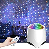 KINOLA Children's Starry Sky Projection Night Light, Galaxy Projector with Remote Control, Built-in Music Speakers, Bedroom Sky Starry Projector and Galaxy Ocean Decoration