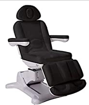 Radi+ Fully Electric 4 Motor Treatment Chair with 240 Degree Bed Rotation Extendable Footrest Removable Arms USA Salon and Spa 2246B (Black)