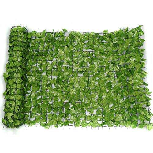 Abaseen Artificial Screening Ivy Leaf Hedge Panels On Roll Privacy Wall Garden Fence 1m x 3m, Green