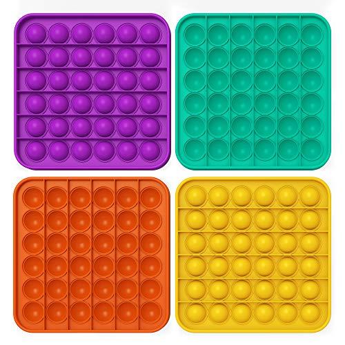 Fidget-Spielzeug zum Stressabbau, Silikon, für Kinder und Erwachsene, 4 Stück