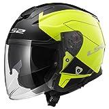Casco moto LS2 INFINITY BEYOND Nero HI-VIS Giallo, Nero/Giallo, XL