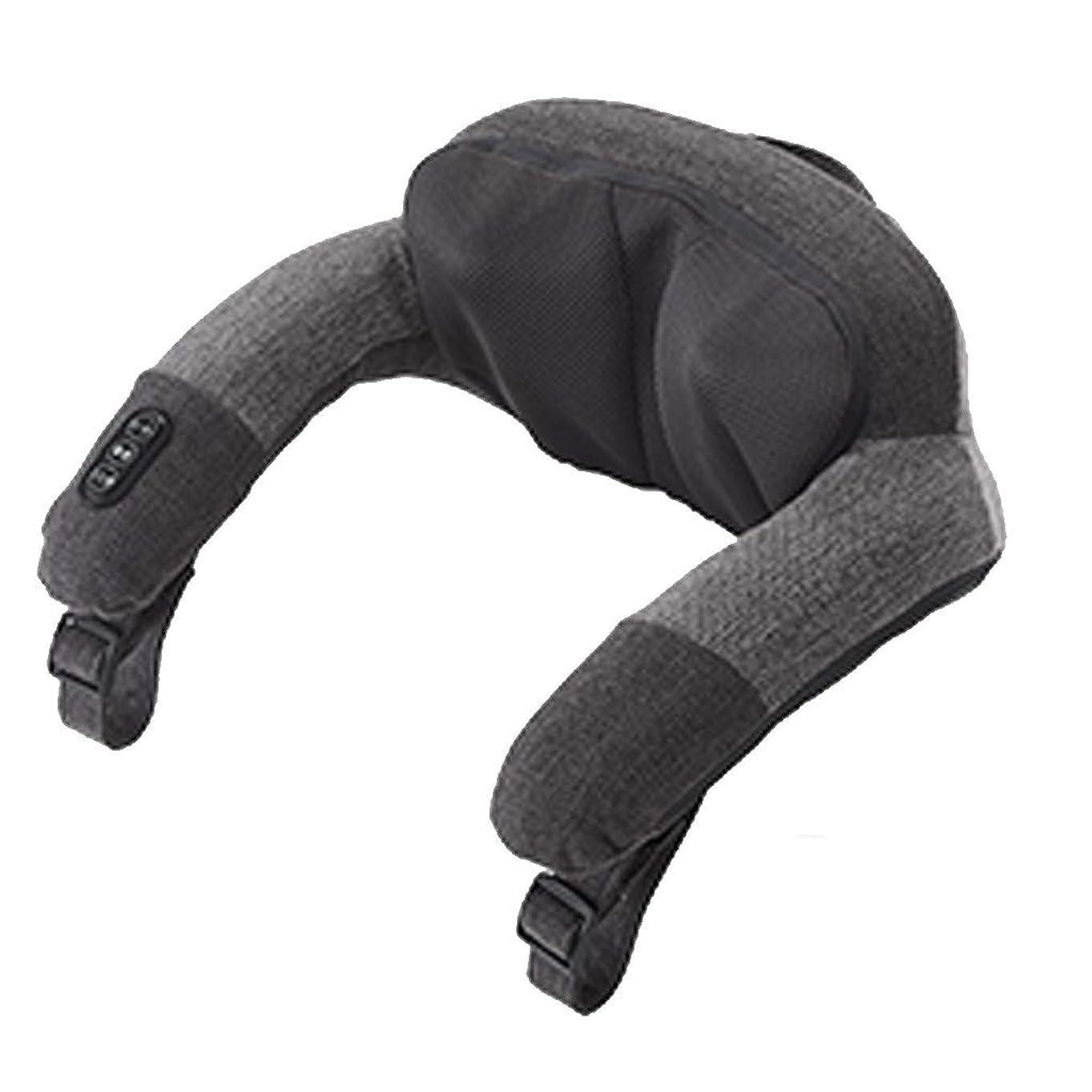 知っているに立ち寄る猟犬分注するYCDJCS 筋肉の痛みを軽減するバックショルダーネックのための深い熱でクッションマッサージネックマッサージ枕グレー戻ります (Color : Gray, Size : 40x42x23cm)