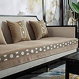 Fsogasilttlv Funda de Sofá Camel, Moderna Toalla de sofá Funda de cojín de sofá de Chenilla, Fundas de sofá Antideslizantes de Color sólido para Sala de Estar 35 * 71 Inch