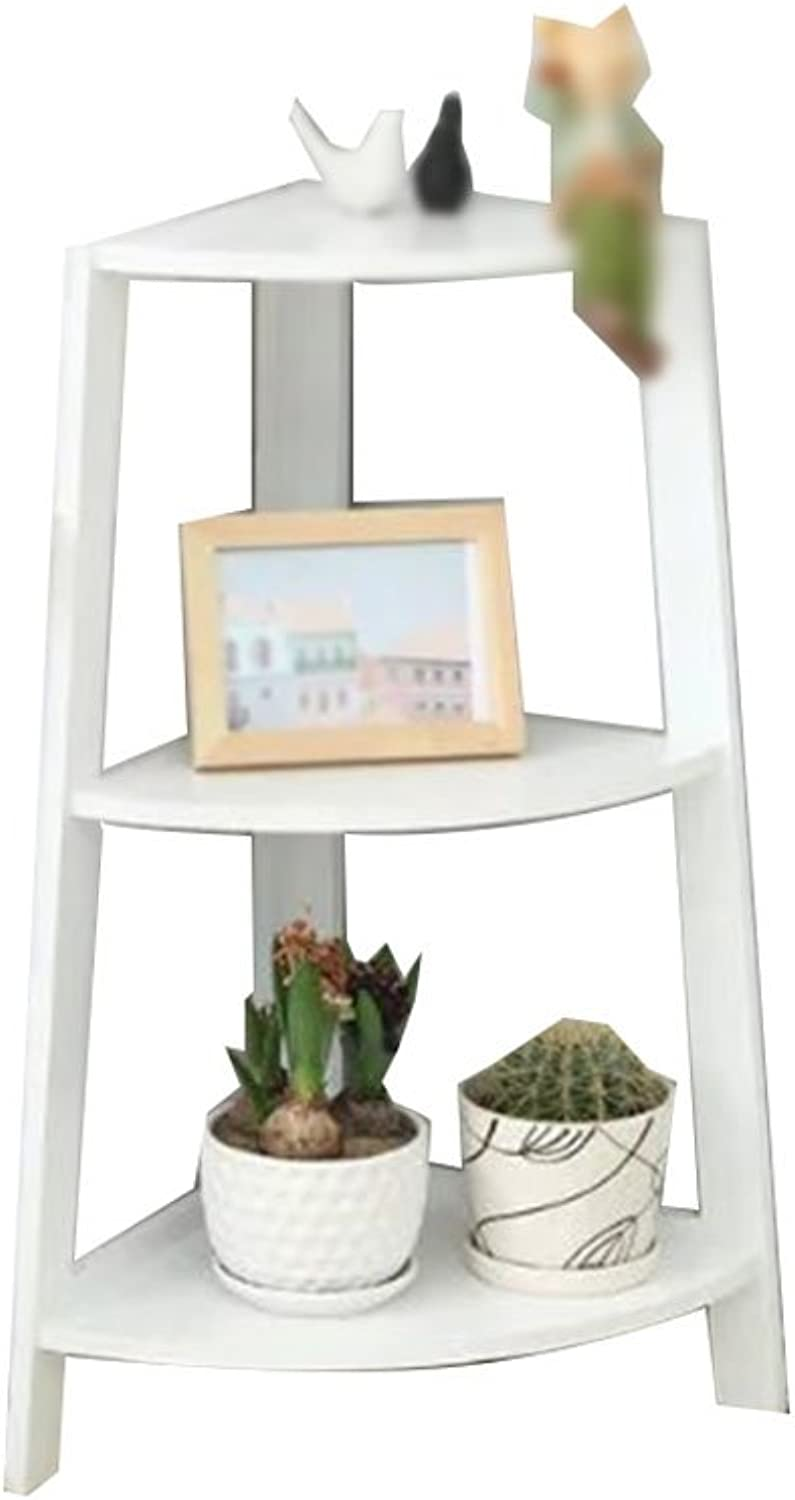 C-J-Xin Solid Wood Flower Shelf, Multifunction Plant Stand Shelf Multilayer Simple Living Room Bedroom Balcony Corner Place Plant Flower Stand (Size   37  37  80CM)