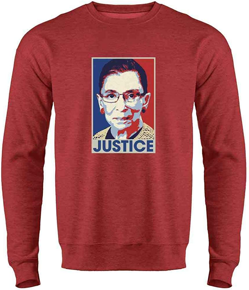 Ruth Bader Ginsburg Very popular Justice Pop Art RBG Heather 2XL Red Crew Gifts RIP