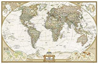 National Geographic: World Executive Enlarged Wall Map (73 x 48 inches) (National..