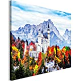 Revolio 100x70 cm Leinwandbild Wandbilder Wohnzimmer Modern