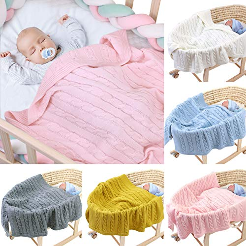 de alta calidad ultra suave para ni/ña vers/átil para cuna cochecito universal tama/ño 80 x 110 cm c/álida y acogedora asiento de coche Manta de beb/é unisex para ni/ño
