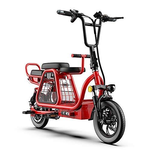 Helmets Scooter eléctrico plegable con cubierta iluminada LED, ruedas de 12 pulgadas, batería de litio mini batería de litio 720 Wh/15 A Scooter eléctrico portátil para adultos de dos ruedas