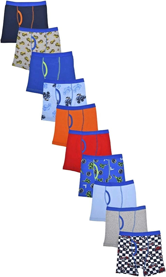 Wonder Nation Clothing Boy's Vehicle Prints Assorted 10 Pack Boxer Briefs