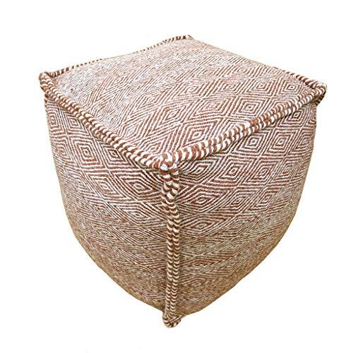 LRSFY Nordic eenvoudige handgemaakte sofa pier wol sofa kruk draagbare zitzak zitting voor woonkamer slaapkamer kleedcabine zitkruk 3 kleuren