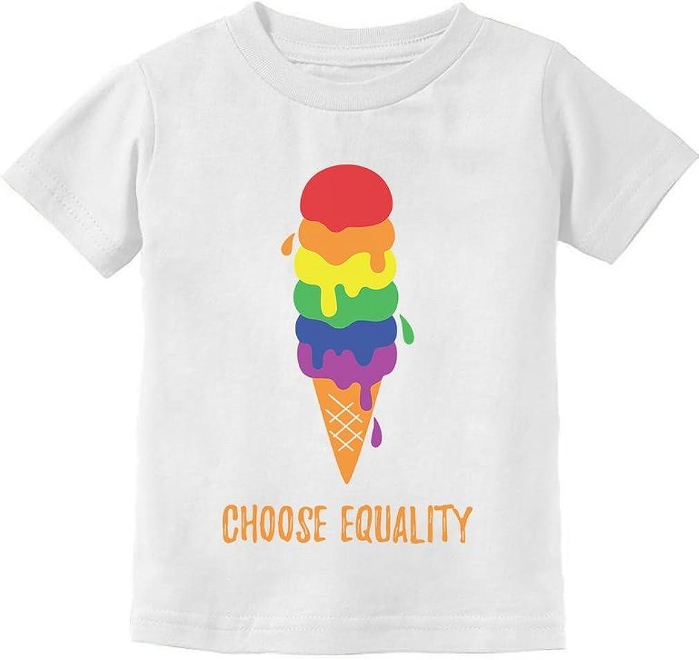 Equality Rainbow Gay & Lesbian Ice Cream Pride Flag Toddler Kids T-Shirt