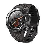 Hillrong Huawei Watch 2 4G Ip68 Carte Sim Smartwatch GPS avec Capteur De Fréquence Cardiaque (Noir)