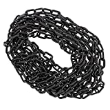 BISupply Plastic Chain Links Black Chain Link Plastic Chains Halloween Chain Crowd Control Chain Black 25ft x 6mm