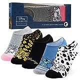 Disney Sneaker Socken Damen Bunt, 5 Paar Füßlinge Damen Set, 36-40