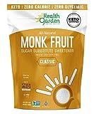 Health Garden Monk Fruit Sweetener Classic - Non GMO - Gluten Free - Sugar Substitute - Kosher - Keto Friendly - (3 LB)
