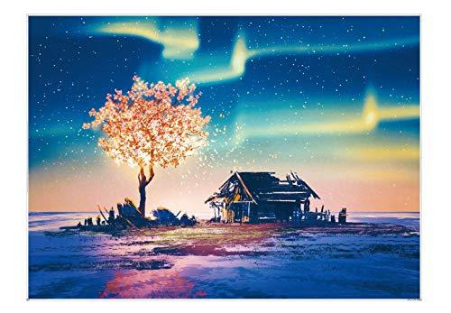 EACHHAHA Puzzle 1000 Pezzi paesaggi-Puzzle di Cartone-Relax Puzzle Giochi-rompicapo Puzzle Aurora (70x50 cm / 27,5x19,7 Pollici) per Bambini e Adulti Regali