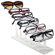 "Mooca 6 Tier Acrylic Eyeglasses Frame Stand, Sunglasses Rack, Sunglasses Stand Acrylic Sunglasses Display, Sunglasses Rack Holder, Acrylic Glass Display, 8""H"