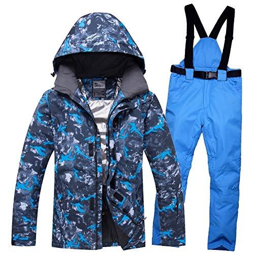 Ski Suit Esquí desgaste de hombres de invierno al aire libre a prueba de viento de la nieve chaqueta con capucha de las bragas del Snowboard Traje de deporte respirable caliente Rusia -30 grados Nueva