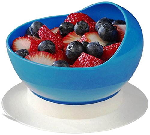 SP Ableware 745340000 Maddak Ableware Scooper Bowl with Suction Cup Base, Blue