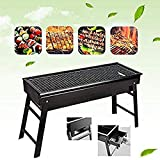ARKIT BBQ Grill,Portable BBQ Charcoal Grill Foldable BBQ Tool Kits,Charcoal Barbecue Grill Smoker