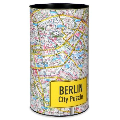 Extragoods Citypuzzle - Berlin Stadtplan Puzzle Map, als Spiel die Stadt kennenlernen, 500 Teile, Souvenir
