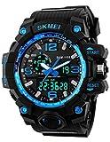 Skmei Analog-Digital 1155 Blue Dial & Beige Strap Looks Sports Men's Watch