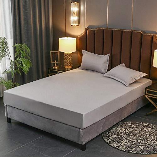 RESUXI Housse de Matelas 180x481 Coton.Couvre-lit imperméable brossé Respirant Doux et Confortable imperméable à la Peau-L_120 * 200cm