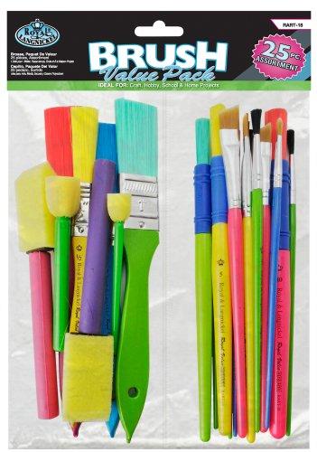 Royal & Langnickel RART-18 - 25-teiliges preisgünstiges Pinselset, Craft Brush Value Pack