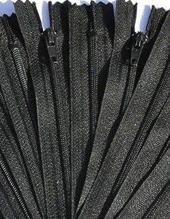 ZipperStop Wholesale Authorized Distributor YKK? SALE 8 Zipper Nylon Coil Zippers (special) ~ Closed Bottom ~ 580 Black (1...