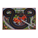 Disney Mickey Mouse Toys Rug Roadster Racer 2017 HD Ed. MMCH Clubhouse Game Rugs 32x44' w/ Mouse Ears Track + 1 Mickey Goofy Toy Car