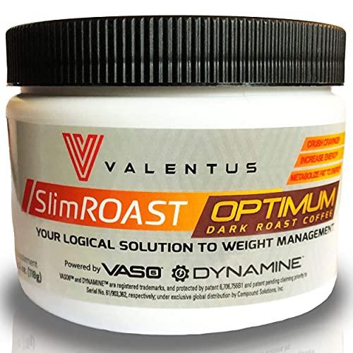 NEW & IMPROVED Valentus Slim ROAST Optimum Dark Roast Coffee 4.2 Oz. | 30 Servings (Packaging May Vary)