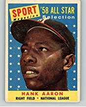 1958 Topps #488 Hank Aaron A.S. Braves EX 372008 Kit Young Cards