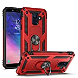 SUSAA Case for Galaxy A6,360 Degree Rotating Ring Holder Kickstand Phone Case for Samsung Galaxy A6 (2018 Release) Red