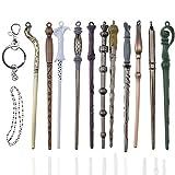 Creative-Idea 11 varitas mágicas para Hermione Dumbledore Sirius Voldemort Flower recipiente de colección Cosplay