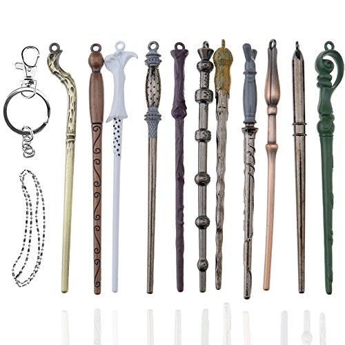 Creative-Idea 11 Stück Zauberstab für Harry Potter Hermine Dumbledore Sirius Voldemort Blume Sammelbehälter Cosplay