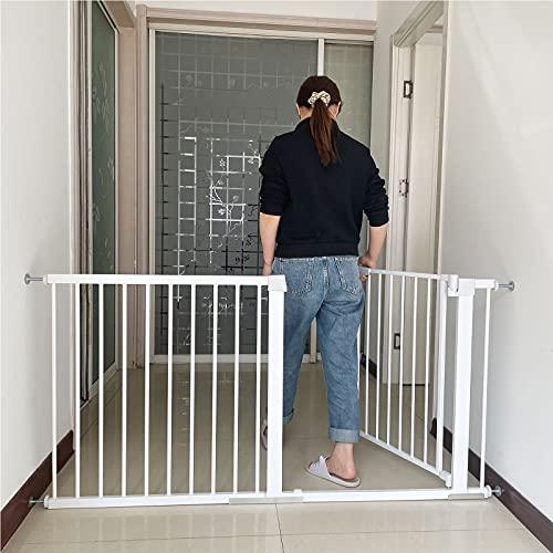 Barrera de Seguridad Extensible Puertas y Escaleras Open N Stop Safety Sin Agujeros Extensible Puerta Seguridad Beb Extensibles para escaleras Pasillos(82-89cm)