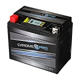 Rechargeable YTX12-BS iGel High Performance Power Sports Battery - Replacement Motorcycle Battery - Chrome Pro Battery