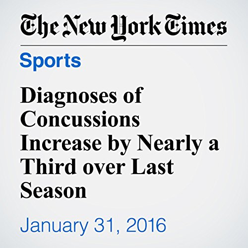 Diagnoses of Concussions Increase by Nearly a Third over Last Season cover art