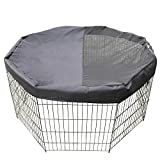 TRAVEL BUS Dog Playpen Mesh Fabric Top Cover -Black Pet Puppy Sunscreen Rainproof Shaded Cover,Keeps Pet Safe and Prevent Jump,Pet Covers Fits All 24 Inch Small Play Pen (Notes: Playpen Not Included)…
