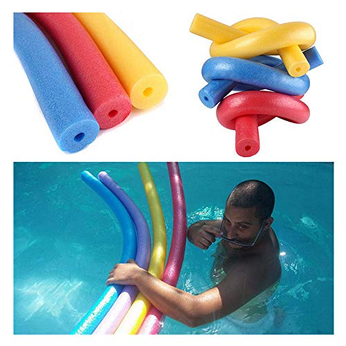 JSxhisxnuid Poolnudel Schwimmnudeln Pool Float Sticks EPE Tupfer Swim Sticks Erwachsene Kinder Hohle Schwimmen Sticks,150x6.5 cm (Blau)