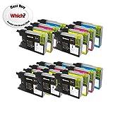 Colour Direct 20 XL Color Direct Cartuchos de Tinta LC1220 LC1240 Para Brother MFC-J280W, MFC-J425W, MFC-J430W, MFC-J435W, MFC-J5910DW, MFC-J625DW, MFC-J6510DW, MFC-J6710DW, MFC-J6910DW, MFC-J825DW, MFC-J835DW, DCP-J525W, DCP-J725DW, DCP-J925DW