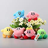 Kirby Star 3 Inch Toddler Animal Stuffed Plush Kids Toys 6 Pcs/set by kidsheaven