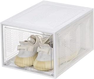 JINWEI Boite a Chaussure Transparente, Boite Rangement Chaussures, Boîte de Rangement Amovible à tiroir, 36 * 28.5 * 21.5 ...