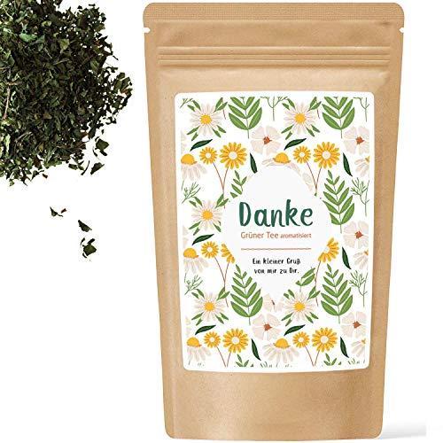 Danke Tee/Grüner Tee Minze /Geschenk Freundin/Tee Geschenk/Dankeschön/kleine Aufmerksamkeit/Geschenk Oma/Mama Geschenk