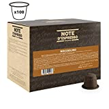 Note D'Espresso - Cápsulas de bebida instantánea de avellana, 7g (caja de 100 unidades)