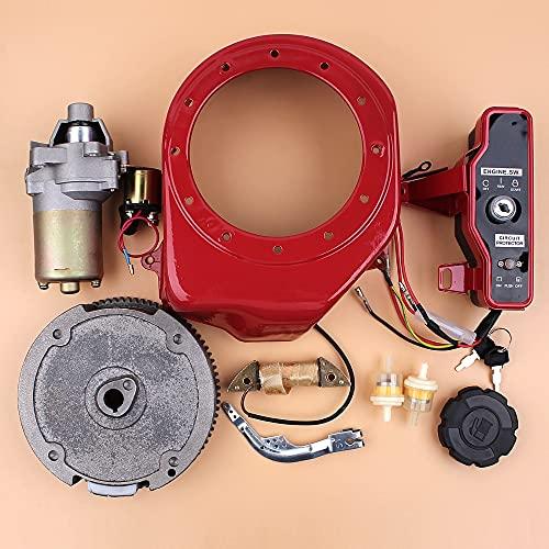 LIBEI Kit de Motor de Bobina de Carga de Interruptor de Volante de Arranque eléctrico para Honda GX160 GX200 generador de Motor de Gas Chino 168F 5.5HP de 4 Tiempos