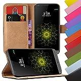 Eximmobile - Book Case Handyhülle für LG G4 Stylus mit Kartenfächer | Schutzhülle aus Kunstleder | Handytasche als Flip Case | Cover in Schwarz | Handy Tasche | Etui Hülle Kunstledertasche